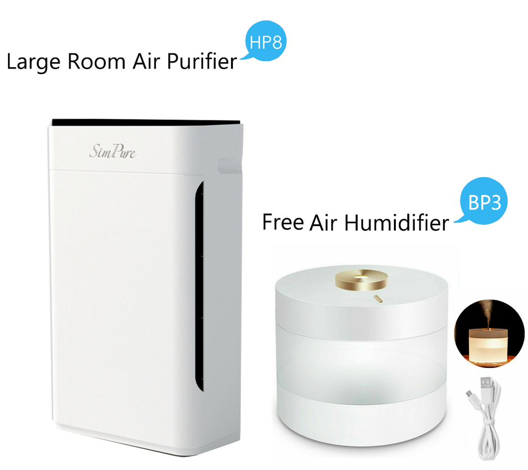 SimPure Air Purifier True HEPA Filter Air Cleaner for Large