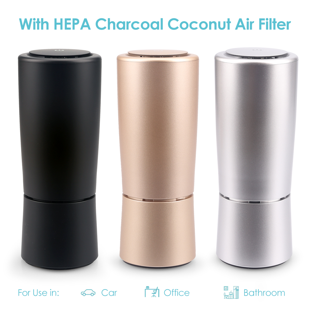 Colorful LED Air Purifier True HEPA Filter Portable Car Home