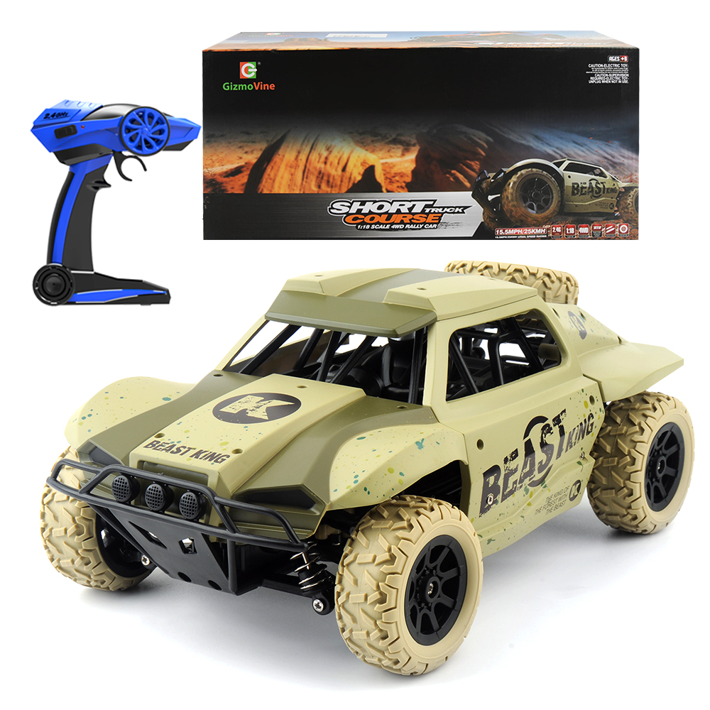 Remote Control Cars >> Details About 1 18 15 Mph Remote Control Car Rc Electric Monster Truck 2 4ghz Off Road Vehicle