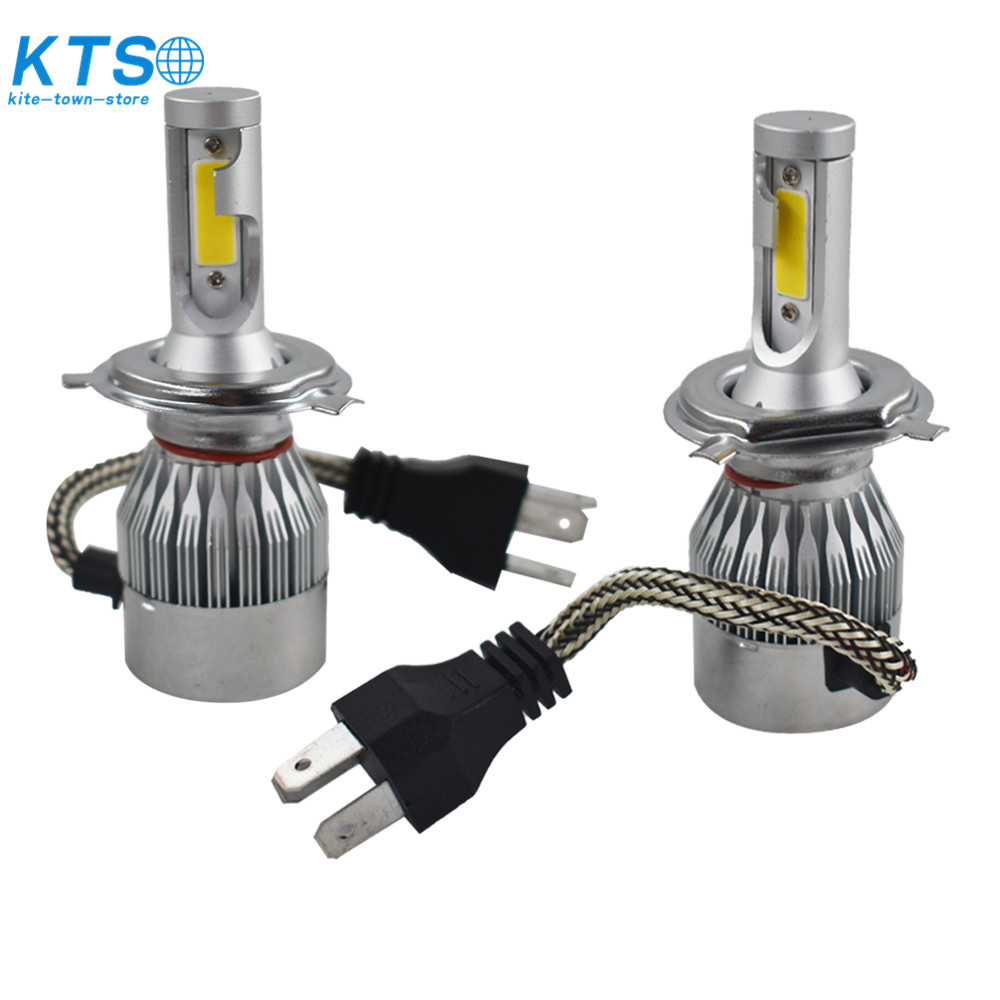 NEW H4 9003 3000K Yellow 7600LM COB LED Headlight Bulbs Kit High /& Low Beam