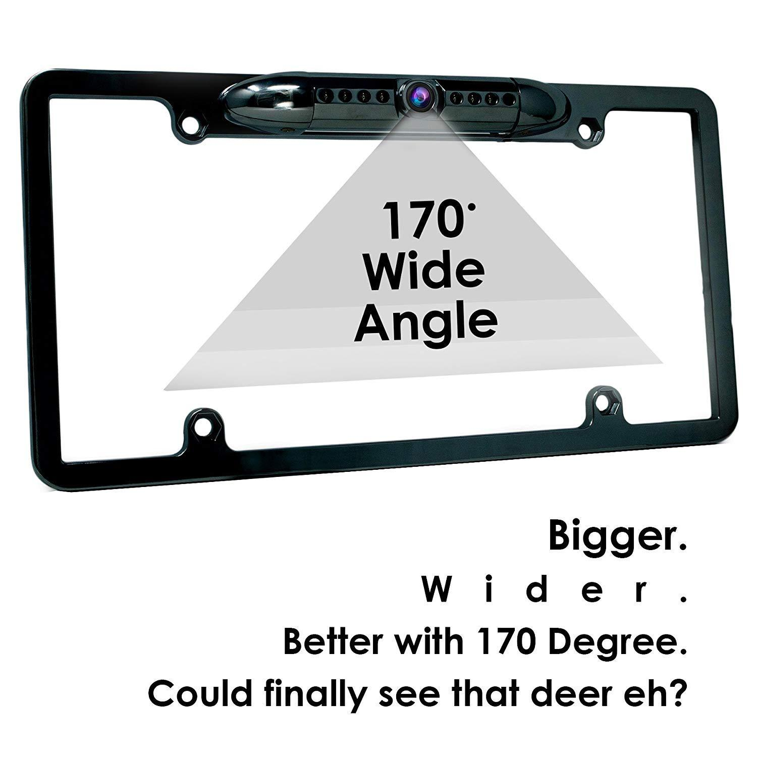 Waterproof Night Vision Hd Wide Angle License Plate Car