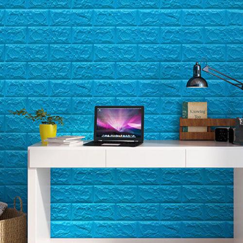1PC Foam PE Brick Stone Wall Cover 3D DIY Sticker Home