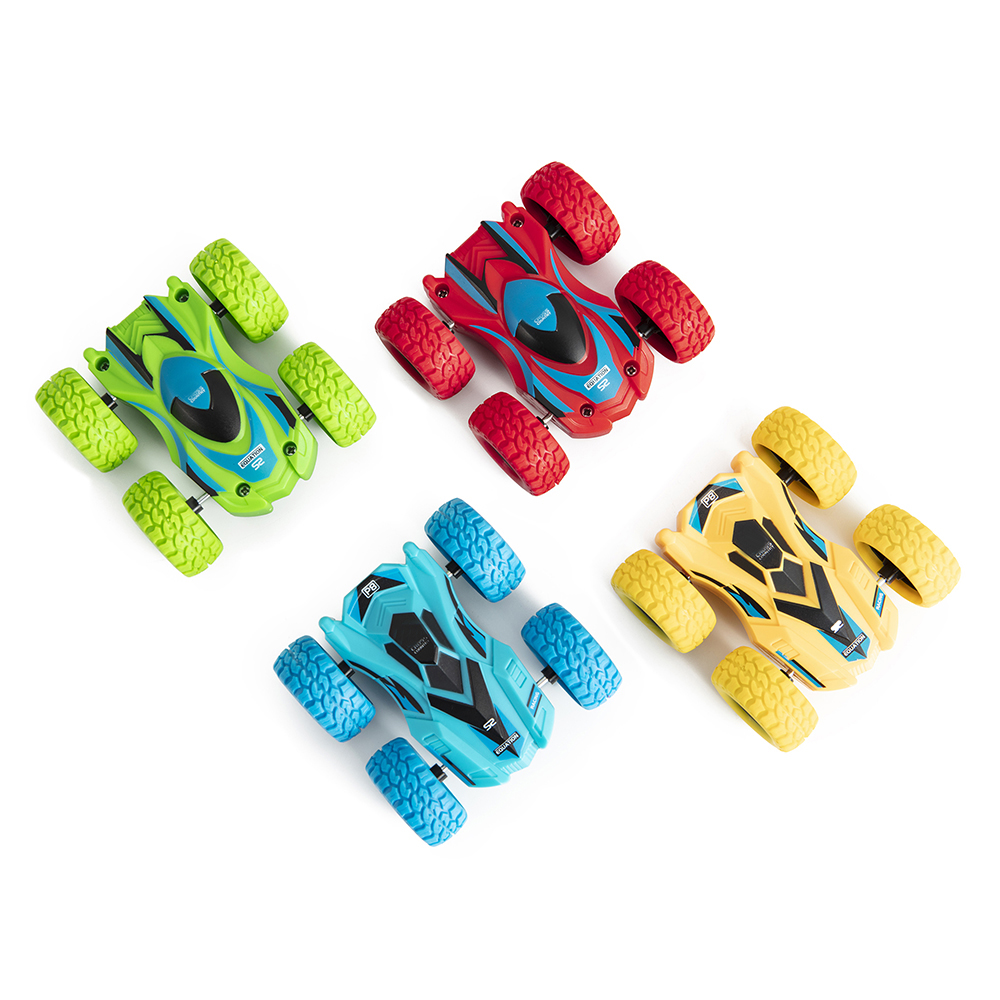 Friction Powered Car Toys 360° Roll Over Rotation 4 Wheels Drive For Kid Gift FU