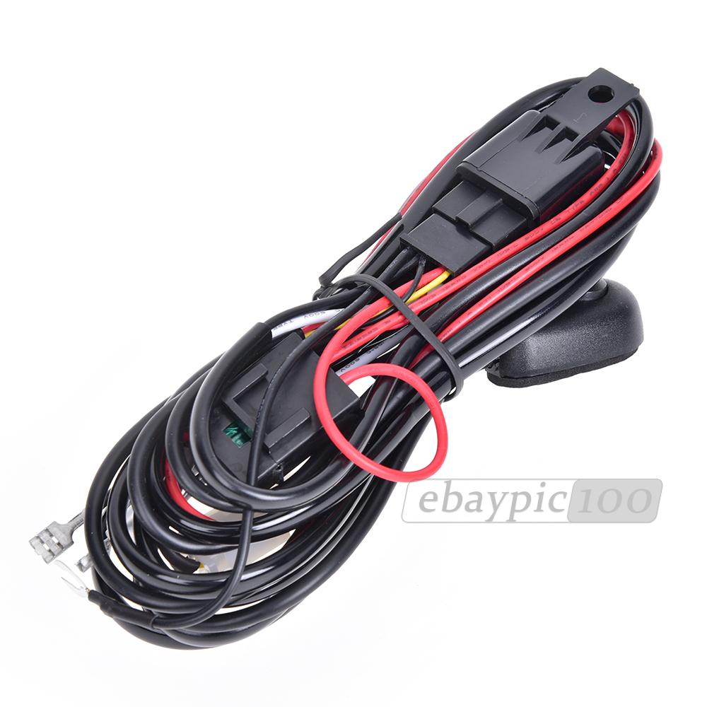 carchet hid work wiring driving light led harness kit 12v 40a