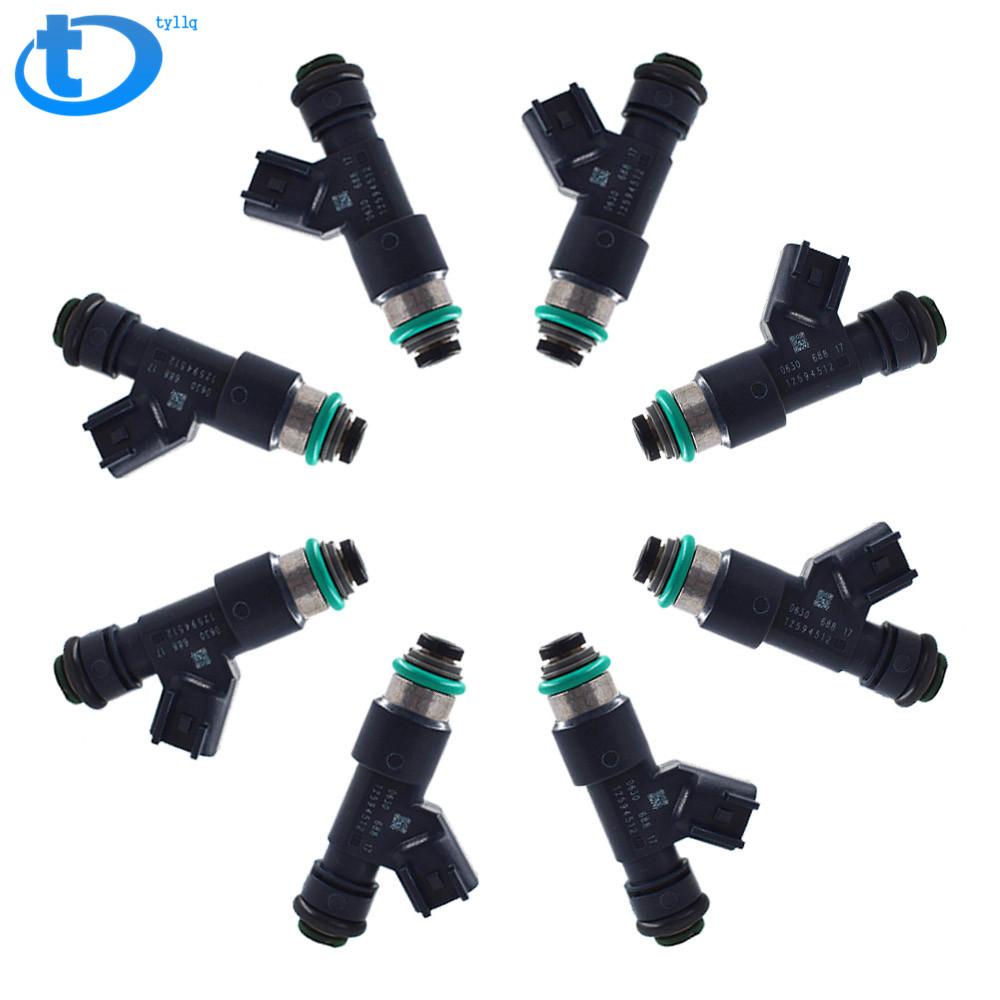 Set of 8 OEM Fuel Injectors For 07-09 Chevrolet GMC 5.3L V8 12594512 217-2436