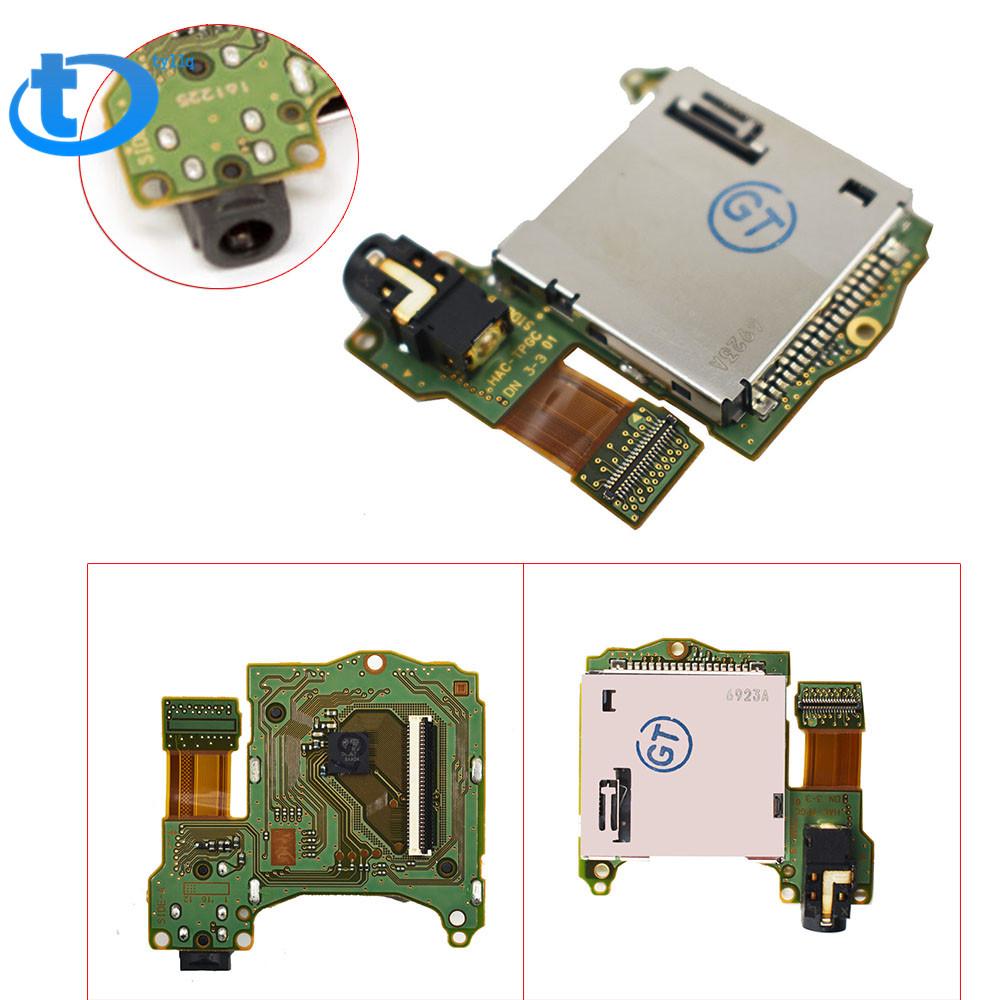Game Cartridge Card Slot Reader Tray Headphones Jack Port