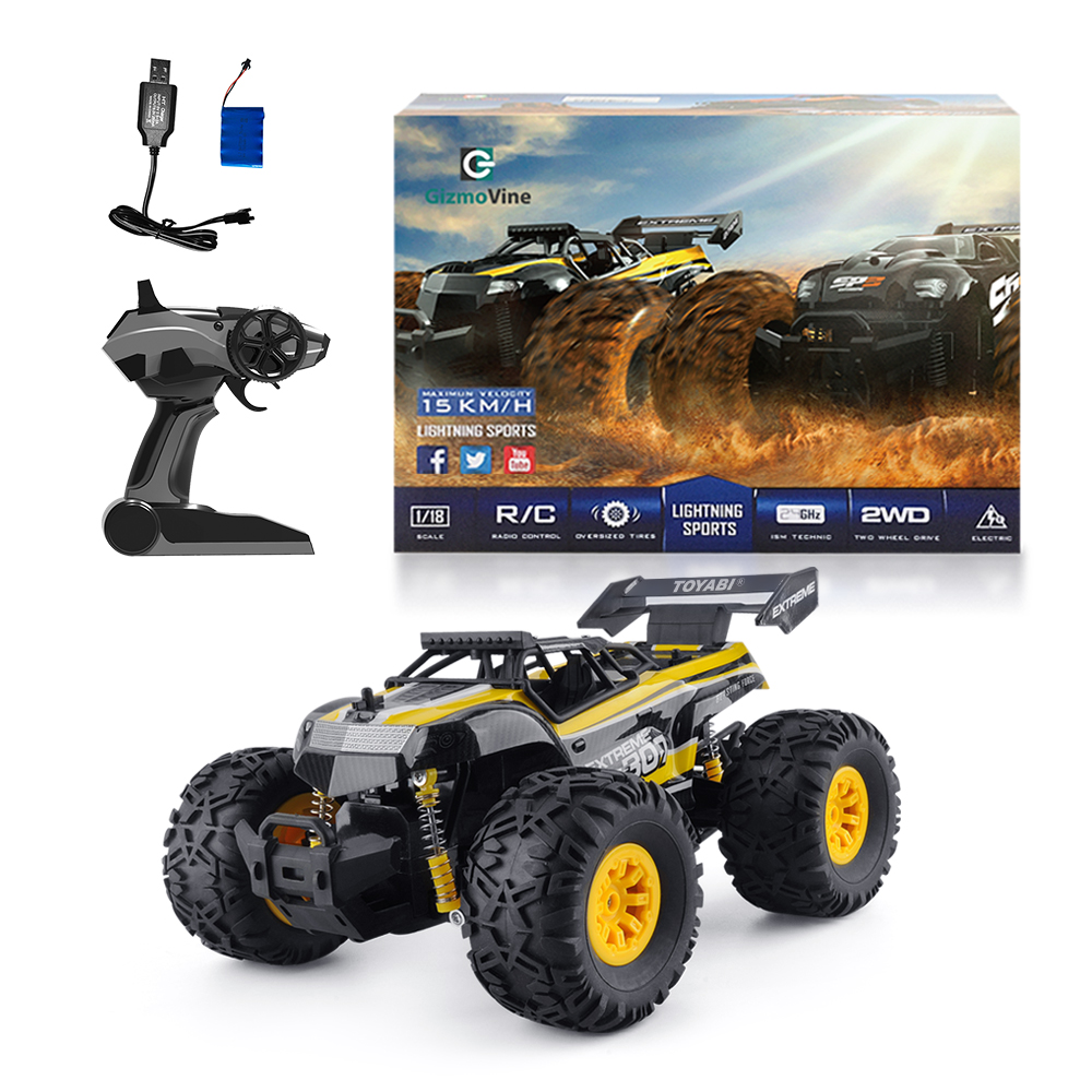 Monster Truck Rc Cars >> Rc Car Toys Remote Control Monster Truck With 2 4g Off Road Remote