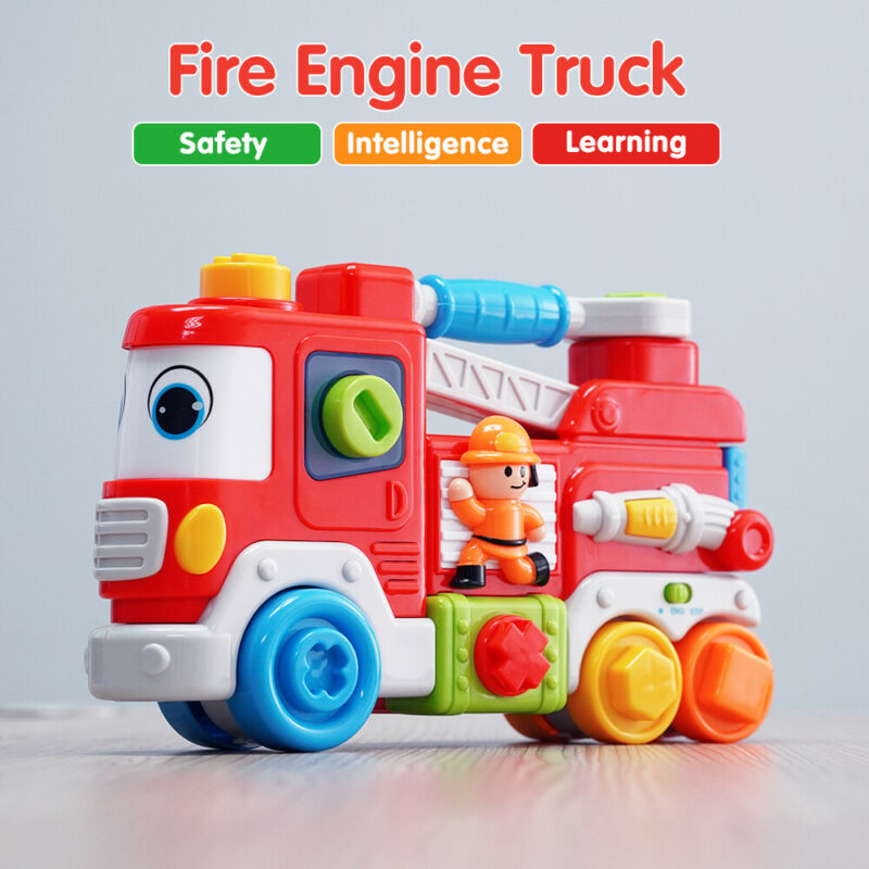 toddler fire engine truck with sound educational