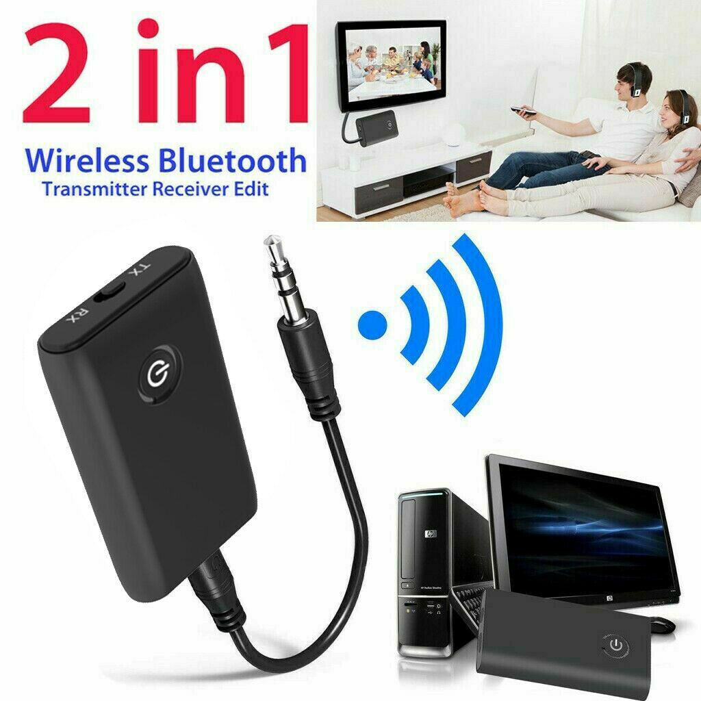 BT V4 Transmitter And Receiver Wireless A2DP Audio 3.5mm Jack Aux Adapter AW US