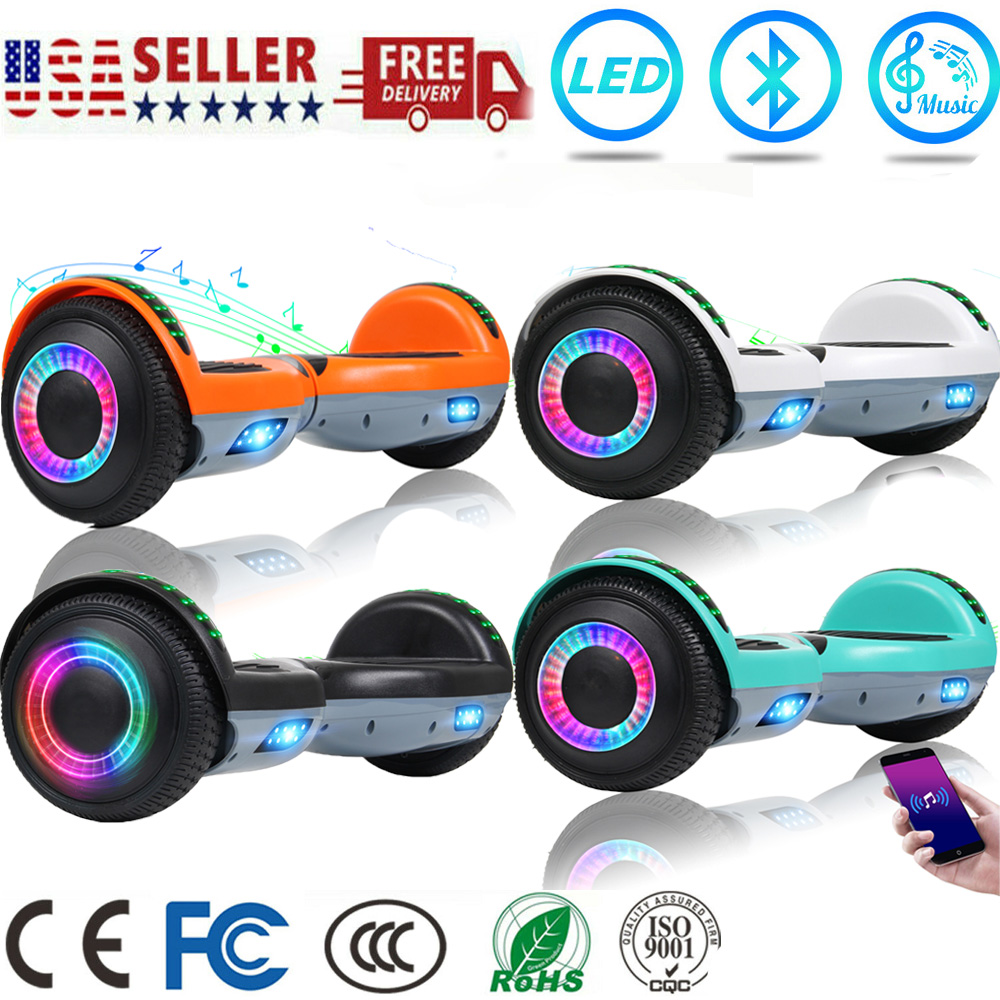 Electric Hoverboard LED Bluetooth Scooter Skate Board No bag