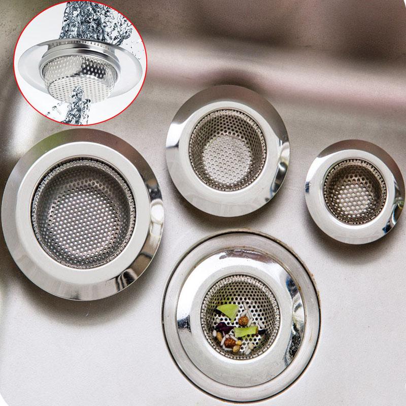 Stainless Steel Waste Kitchen Bathroom Sink Colander Hair Filter Drain Strainer
