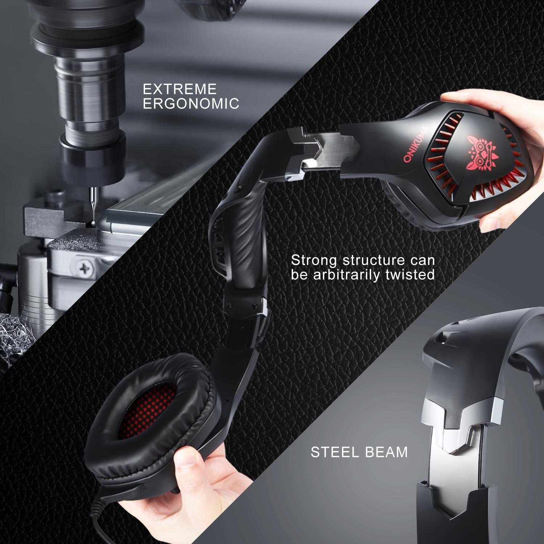 OniKuma K1PRO 3.5mm E-sports Gaming Overhead Headset