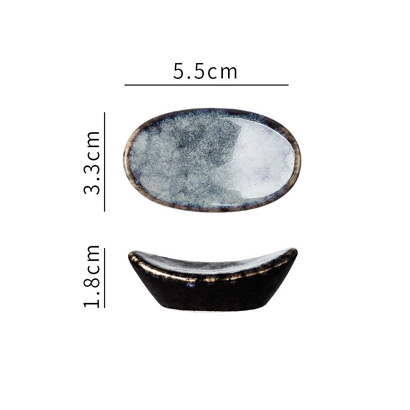 1x-Chopsticks-Holder-Stand-Ceramic-Glaze-Spoon-Fork-Rest-Tableware-Reusable thumbnail 6