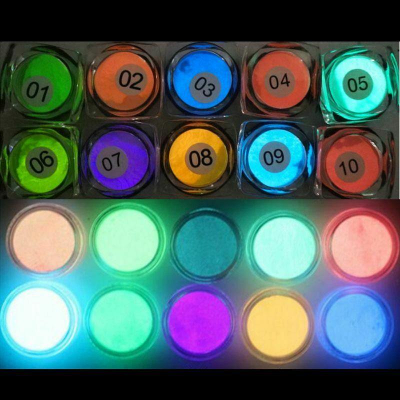 10 Colors Luminous Powder UV Resin Pigment Dye Epoxy DIY