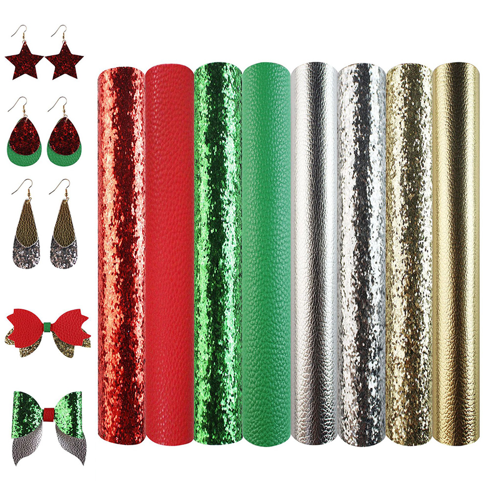 Earrings DIY 8x11 Faux Leather Metallic Faux Leather Sheets DIY Hair Bows A4 Vinyl Fabric Sheet