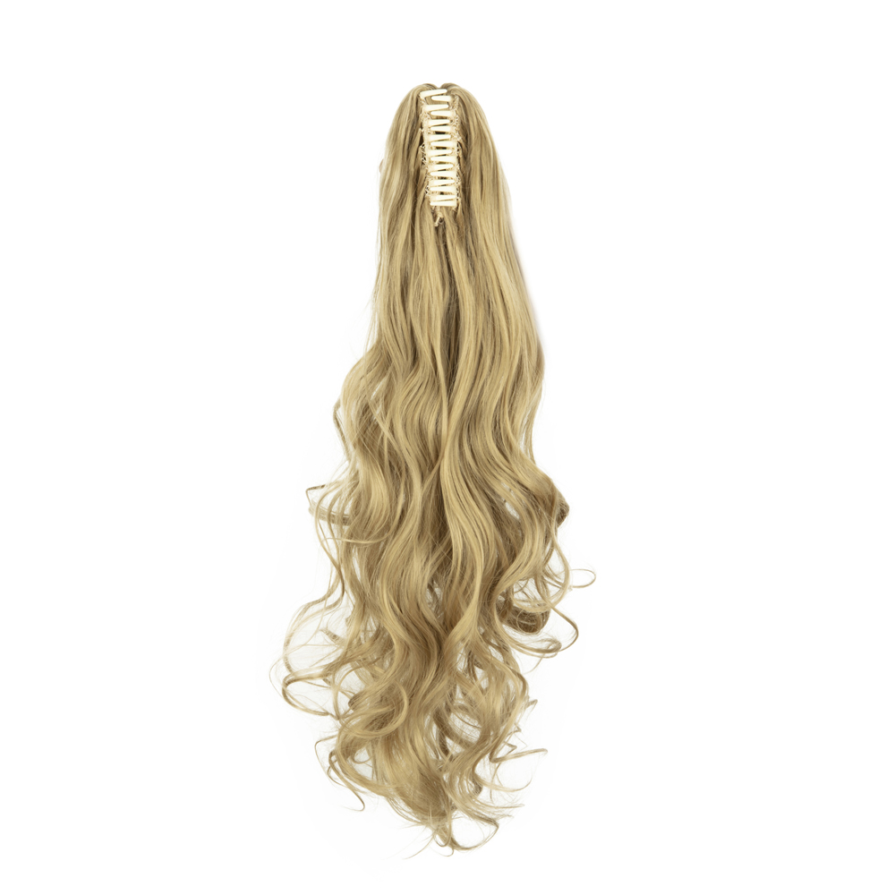 Synthetic-Claw-Clip-Ponytail-Extension-Long-Wavy-Pony-Tail-Hair-Piece-For-Ladies thumbnail 6