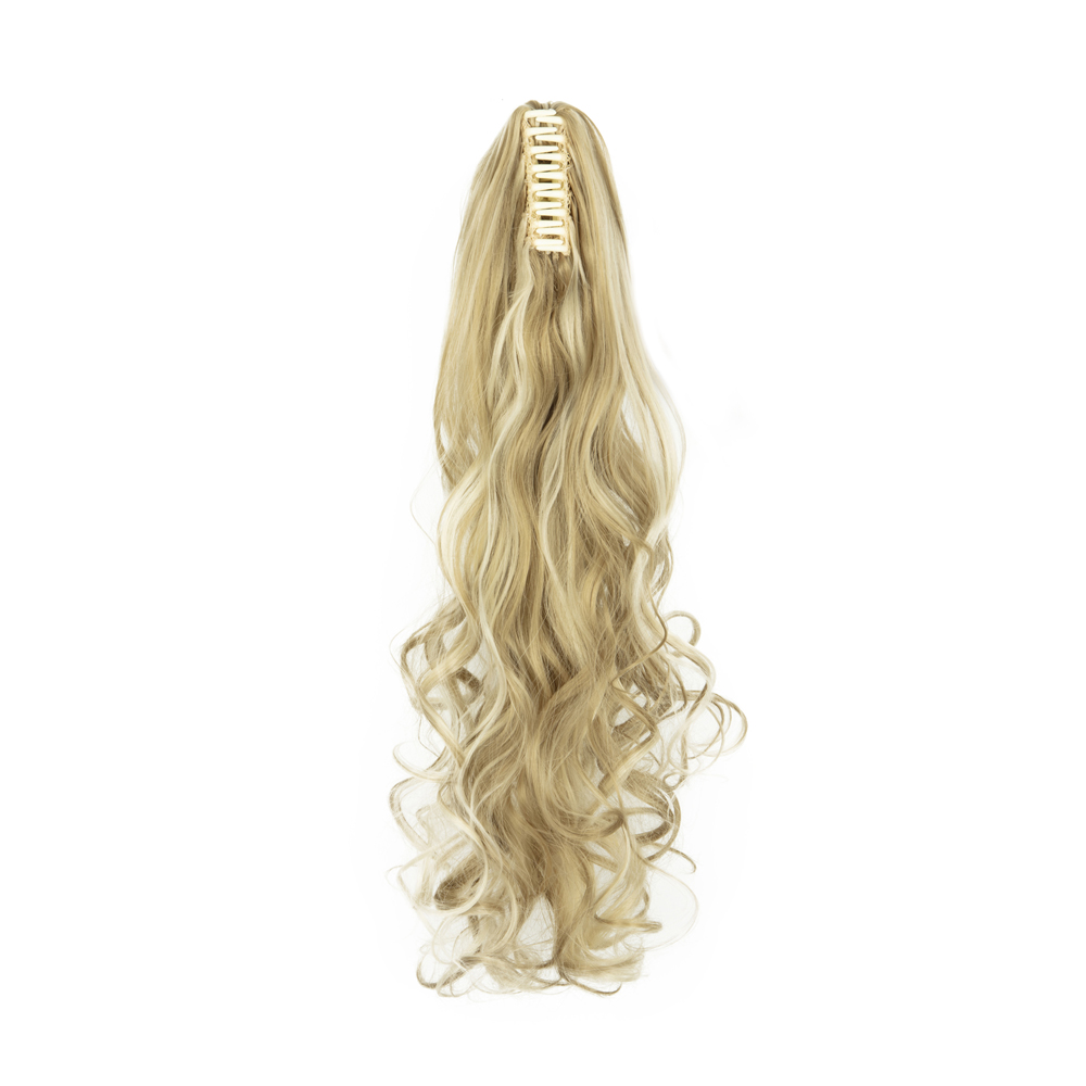 Synthetic-Claw-Clip-Ponytail-Extension-Long-Wavy-Pony-Tail-Hair-Piece-For-Ladies thumbnail 8