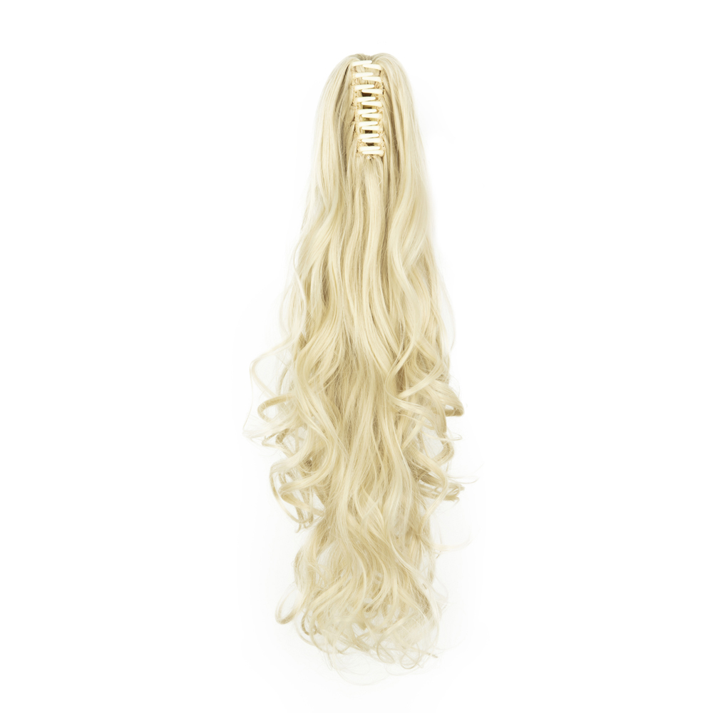 Synthetic-Claw-Clip-Ponytail-Extension-Long-Wavy-Pony-Tail-Hair-Piece-For-Ladies thumbnail 10