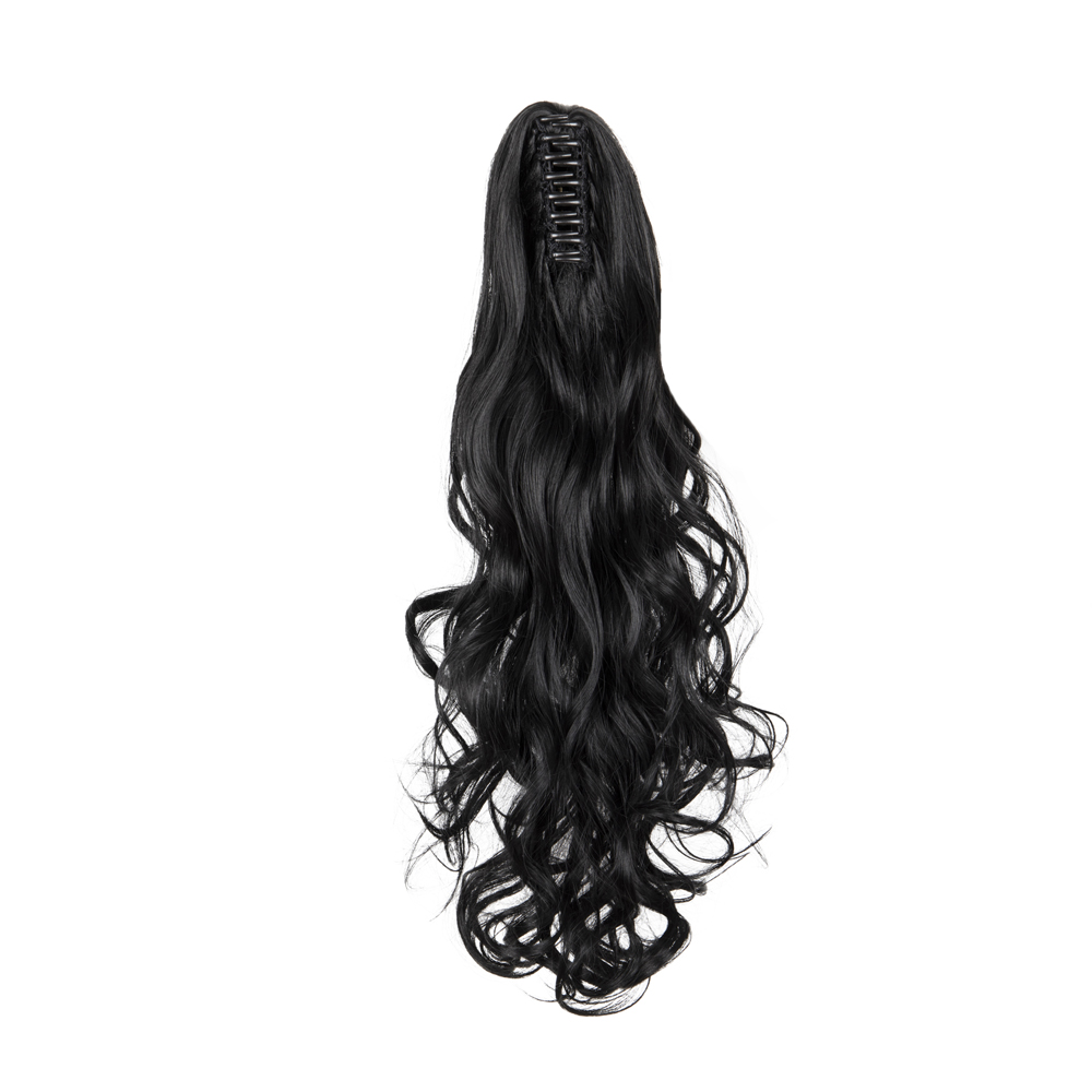 Synthetic-Claw-Clip-Ponytail-Extension-Long-Wavy-Pony-Tail-Hair-Piece-For-Ladies thumbnail 12