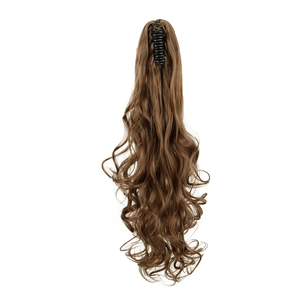 Synthetic-Claw-Clip-Ponytail-Extension-Long-Wavy-Pony-Tail-Hair-Piece-For-Ladies thumbnail 18