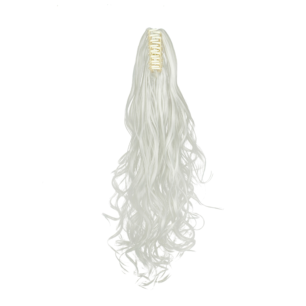 Synthetic-Claw-Clip-Ponytail-Extension-Long-Wavy-Pony-Tail-Hair-Piece-For-Ladies thumbnail 24