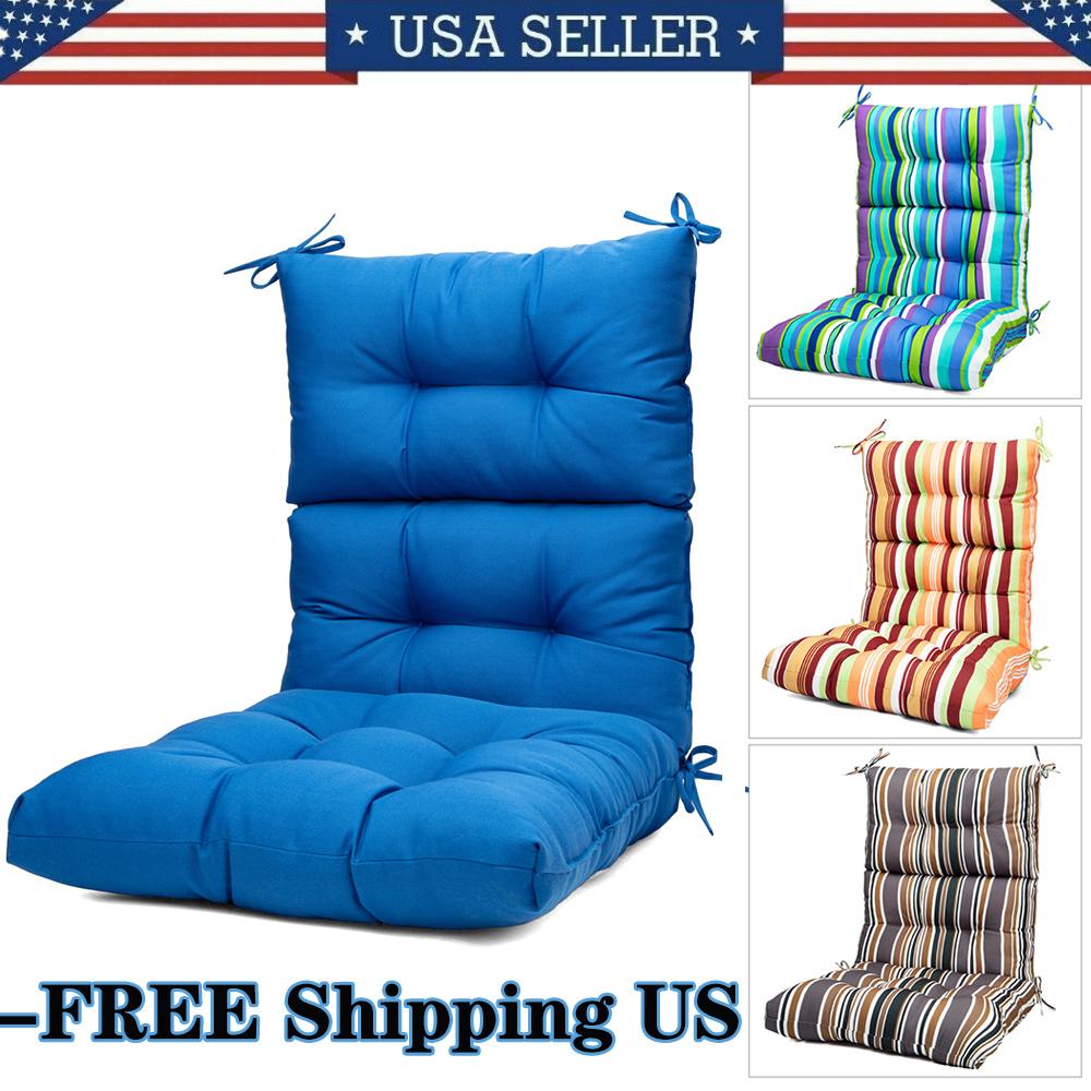 Outdoor Indoor High Rebound Foam High Back Dining Chair Cush