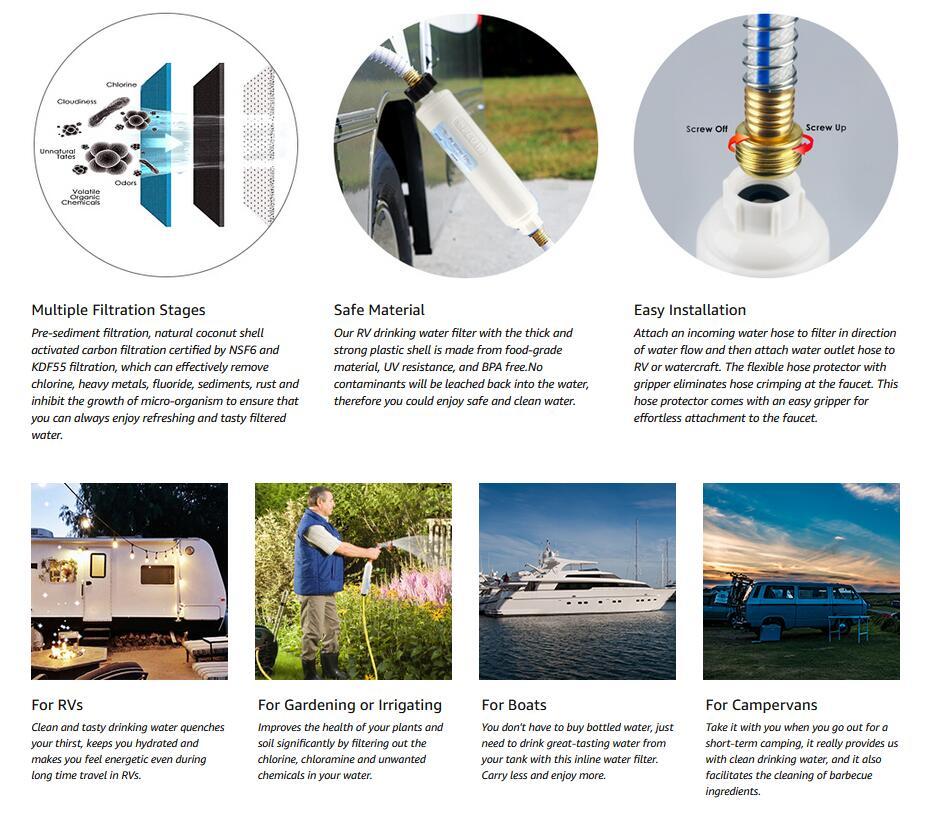 3xrv Water Filter Kdf Filtration For Trailer Camper Boat