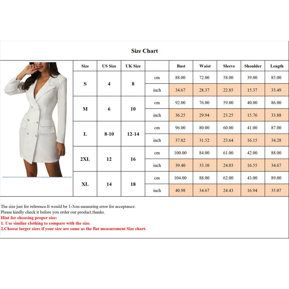 Vintage-Women-Double-Breasted-Plaid-Long-Blazer-Ladies-Jackets-Suits-Coat-Pocket miniatura 37
