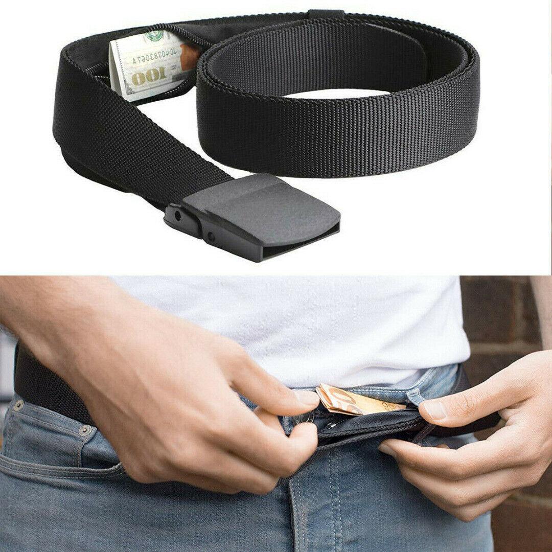 JasGood Travel Money Belt MenWomen Hidden Pocket Nylon Belt