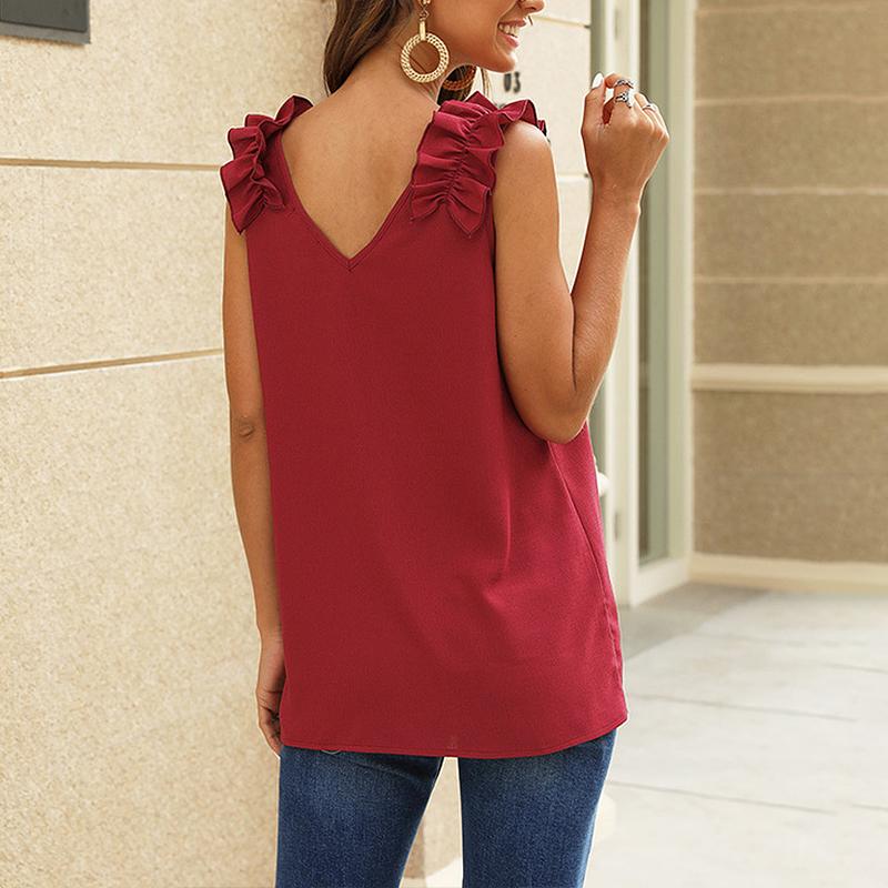 Women-Casual-Loose-V-Neck-Vest-Tops-Ladies-Summer-Beach-Sleeveless-Blouse-Shirt thumbnail 15