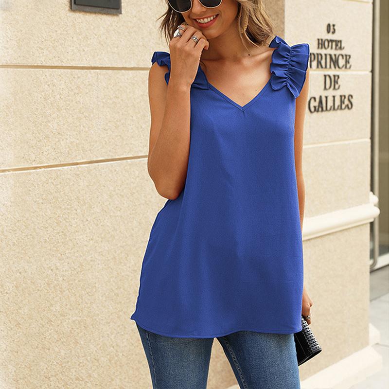 Women-Casual-Loose-V-Neck-Vest-Tops-Ladies-Summer-Beach-Sleeveless-Blouse-Shirt thumbnail 26