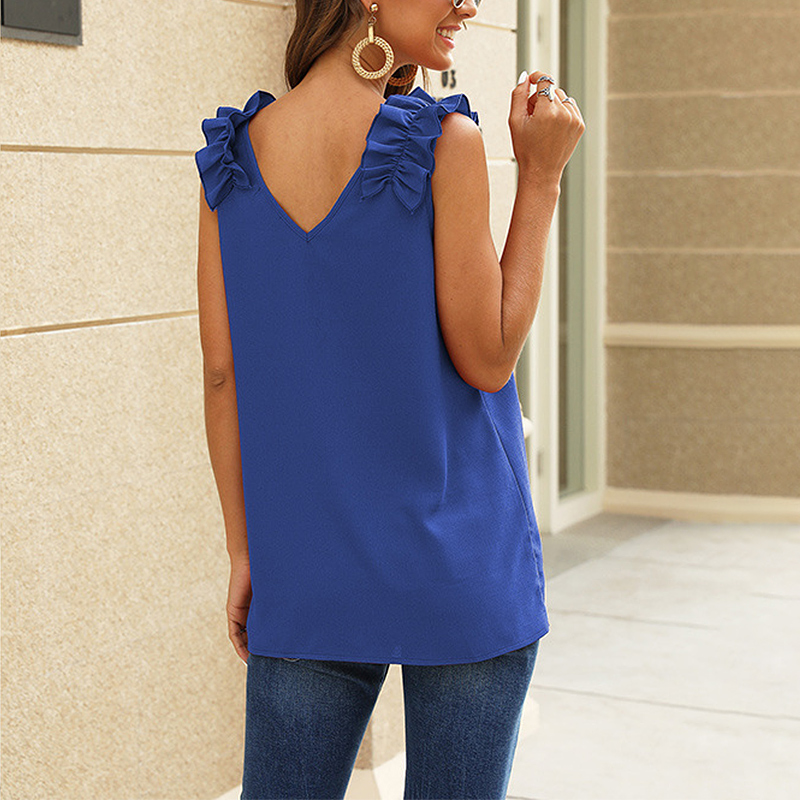 Women-Casual-Loose-V-Neck-Vest-Tops-Ladies-Summer-Beach-Sleeveless-Blouse-Shirt thumbnail 27