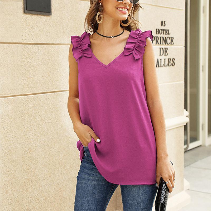Women-Casual-Loose-V-Neck-Vest-Tops-Ladies-Summer-Beach-Sleeveless-Blouse-Shirt thumbnail 30