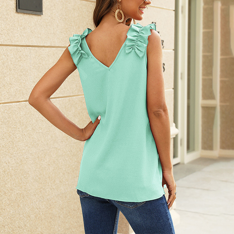 Women-Casual-Loose-V-Neck-Vest-Tops-Ladies-Summer-Beach-Sleeveless-Blouse-Shirt thumbnail 23