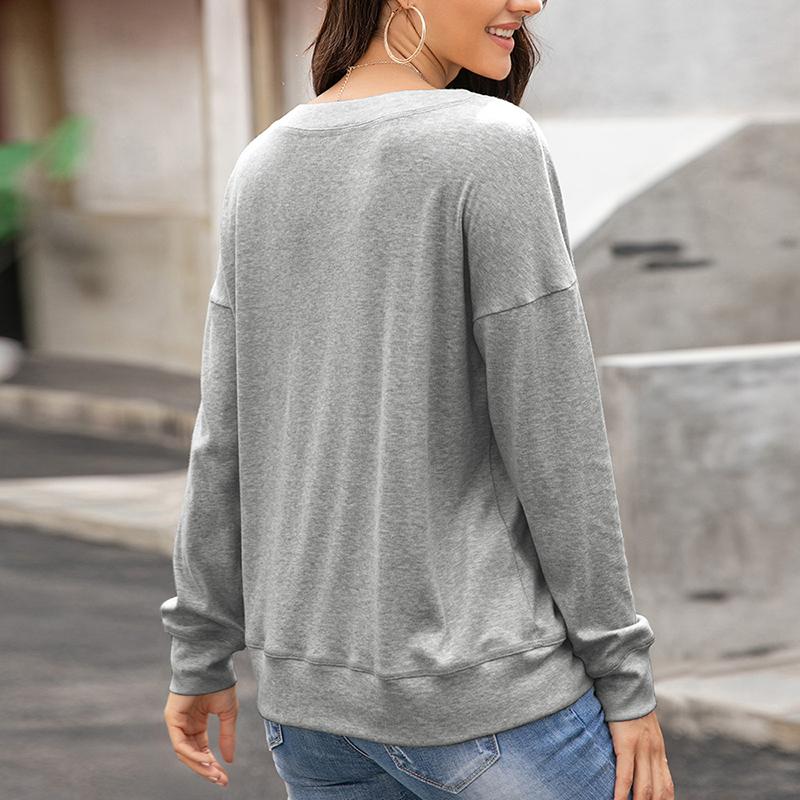 Womens-Autumn-Long-Sleeve-Tops-Ladies-Loose-Casual-Shirt-Blouse-Sweatshirt thumbnail 22