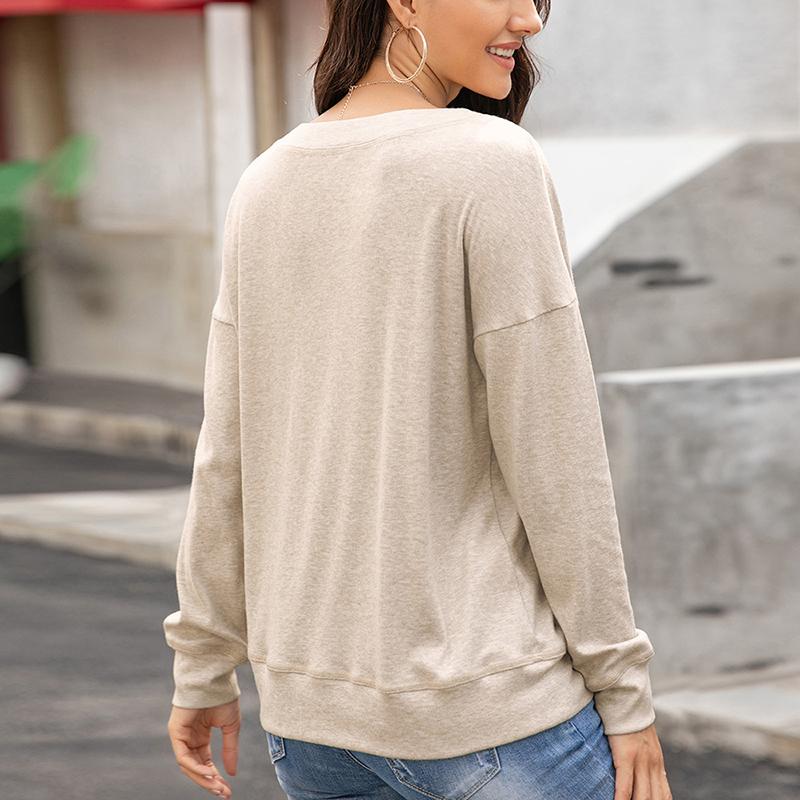 Womens-Autumn-Long-Sleeve-Tops-Ladies-Loose-Casual-Shirt-Blouse-Sweatshirt thumbnail 26