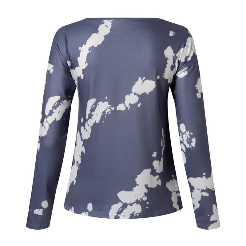 Women-039-s-Tie-Dye-Long-Sleeve-Pullover-Ladies-Loose-Casual-Sweatshirt-Tops-Jumper thumbnail 14