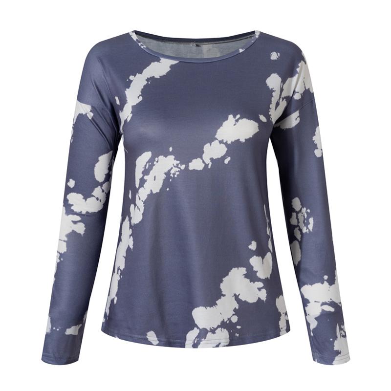 Women-039-s-Tie-Dye-Long-Sleeve-Pullover-Ladies-Loose-Casual-Sweatshirt-Tops-Jumper thumbnail 15