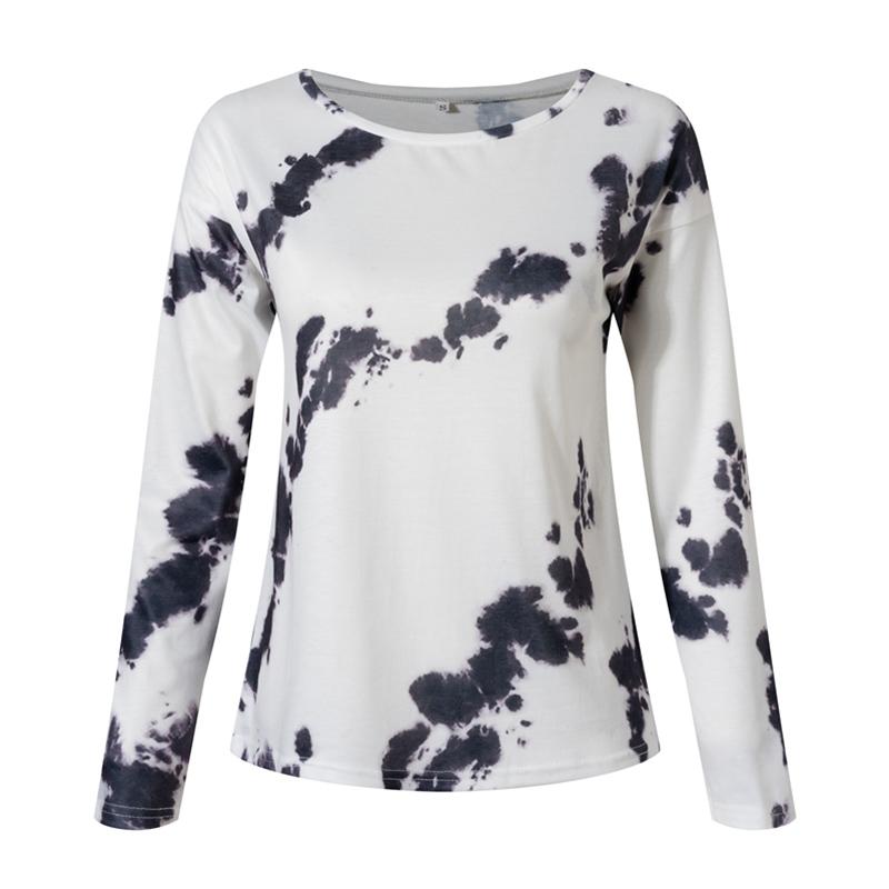 Women-039-s-Tie-Dye-Long-Sleeve-Pullover-Ladies-Loose-Casual-Sweatshirt-Tops-Jumper thumbnail 17