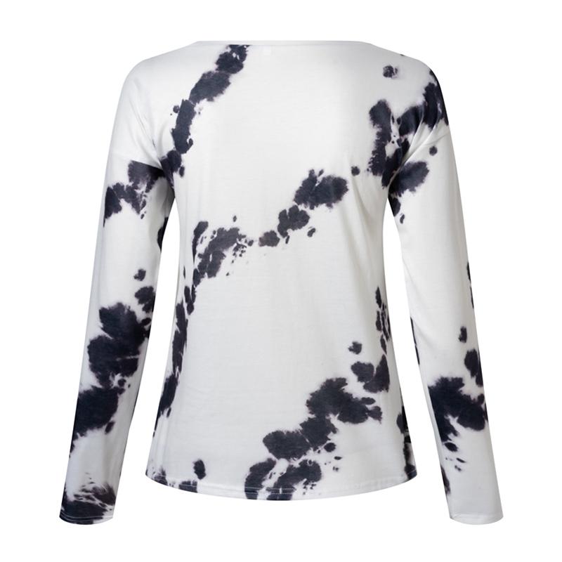 Women-039-s-Tie-Dye-Long-Sleeve-Pullover-Ladies-Loose-Casual-Sweatshirt-Tops-Jumper thumbnail 18