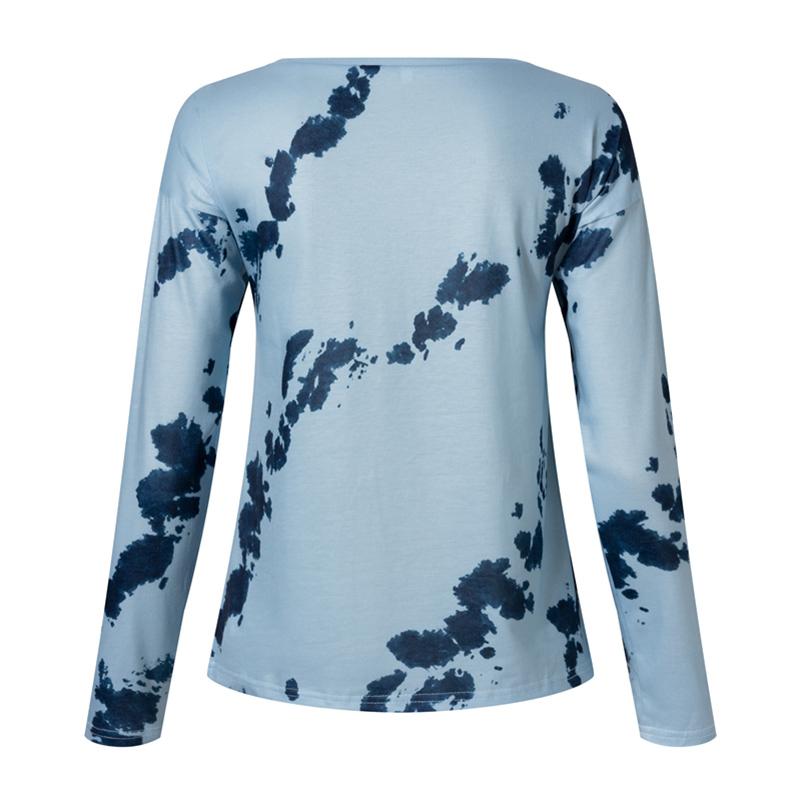 Women-039-s-Tie-Dye-Long-Sleeve-Pullover-Ladies-Loose-Casual-Sweatshirt-Tops-Jumper thumbnail 21