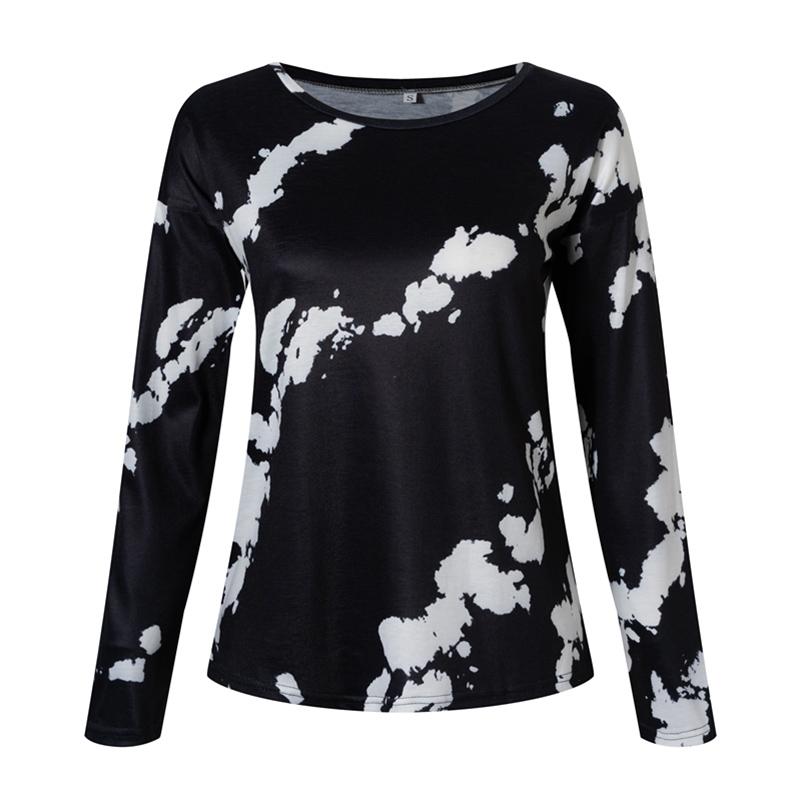 Women-039-s-Tie-Dye-Long-Sleeve-Pullover-Ladies-Loose-Casual-Sweatshirt-Tops-Jumper thumbnail 24
