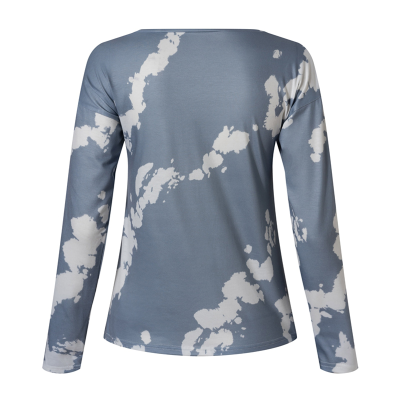 Women-039-s-Tie-Dye-Long-Sleeve-Pullover-Ladies-Loose-Casual-Sweatshirt-Tops-Jumper thumbnail 26
