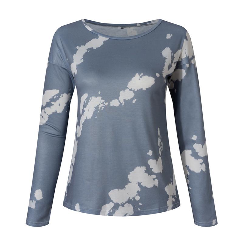 Women-039-s-Tie-Dye-Long-Sleeve-Pullover-Ladies-Loose-Casual-Sweatshirt-Tops-Jumper thumbnail 27