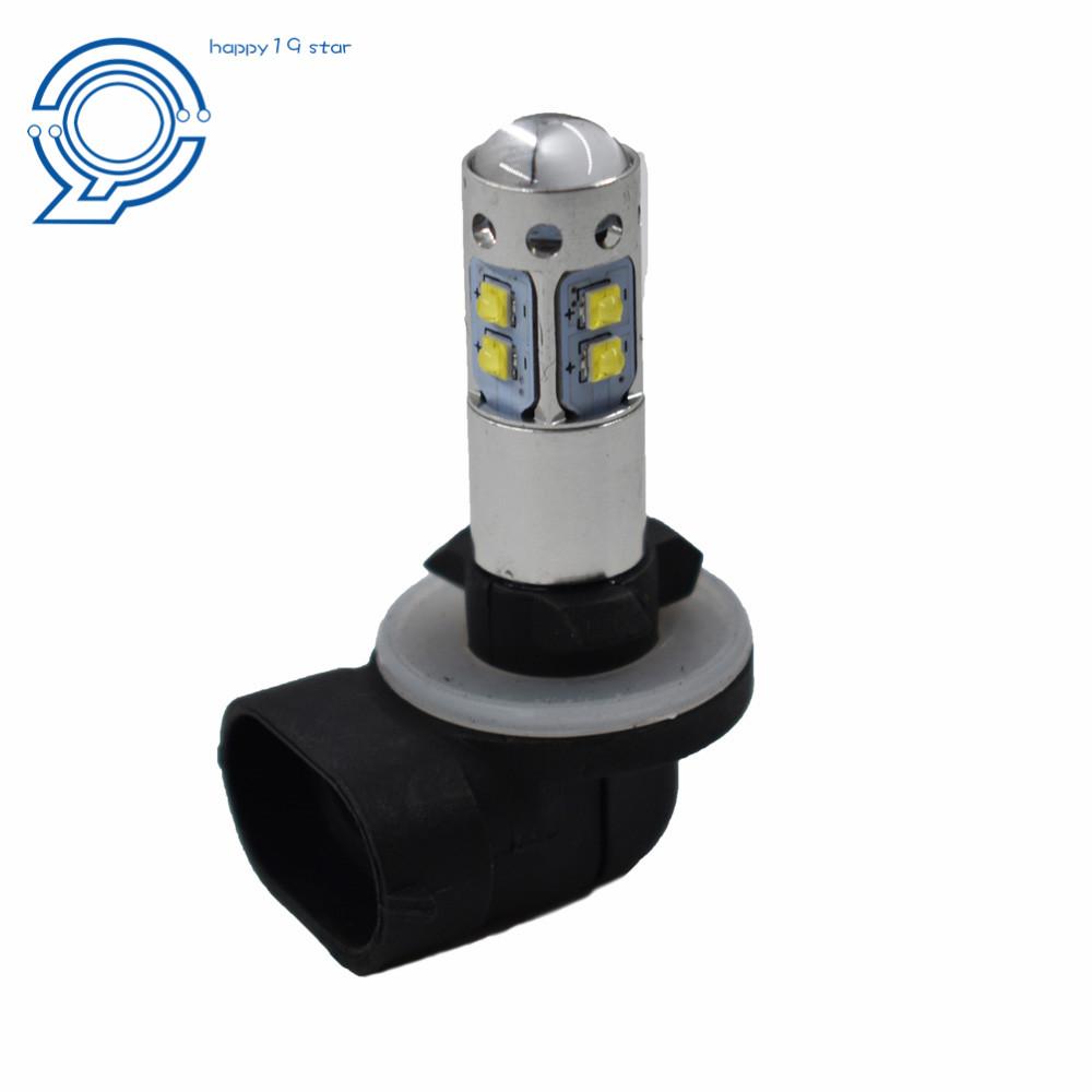2 POLARIS RANGER RZR HIGH POWER HEADLIGHT LED LIGHT BULBS WHITE 6000K 100W 1800L