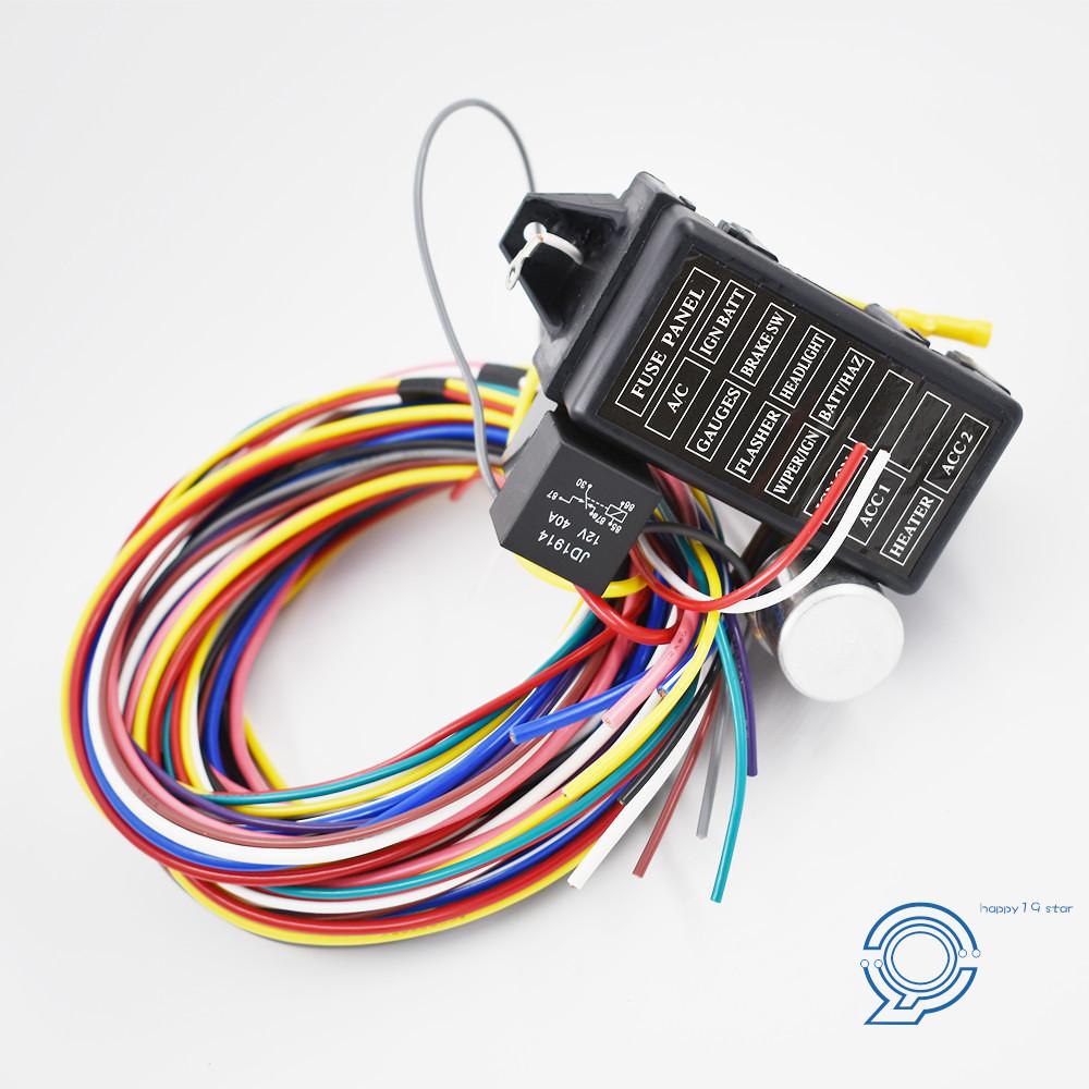 10 Circuit Basic Wire Harness Rat Street Rod Gearhead Manual Guide