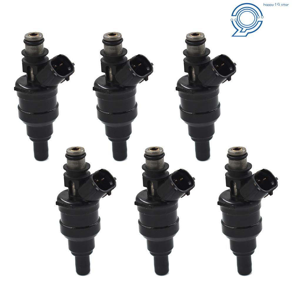 set of 6 fuel injectors for 89 95 toyota 4runner pickup 3vze 3 0l v6