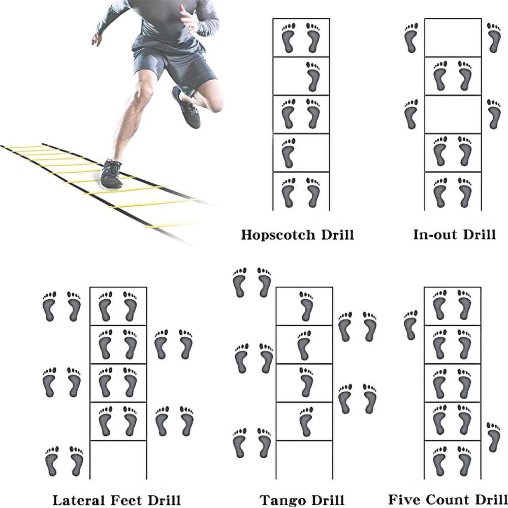 6m Speed Agility Fitness Training Ladder Footwork Football