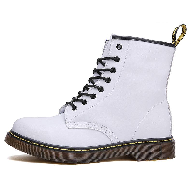 thumbnail 5 - Womens Platform Biker Boots Comfy Black Leather Punk Goth Thick Sole Ankle Shoes