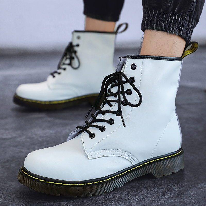 thumbnail 21 - Womens Platform Biker Boots Comfy Black Leather Punk Goth Thick Sole Ankle Shoes